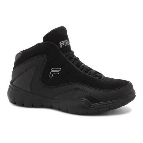 Boys Fila Sweeper Basketball Shoe Black Black Grey Silver Us