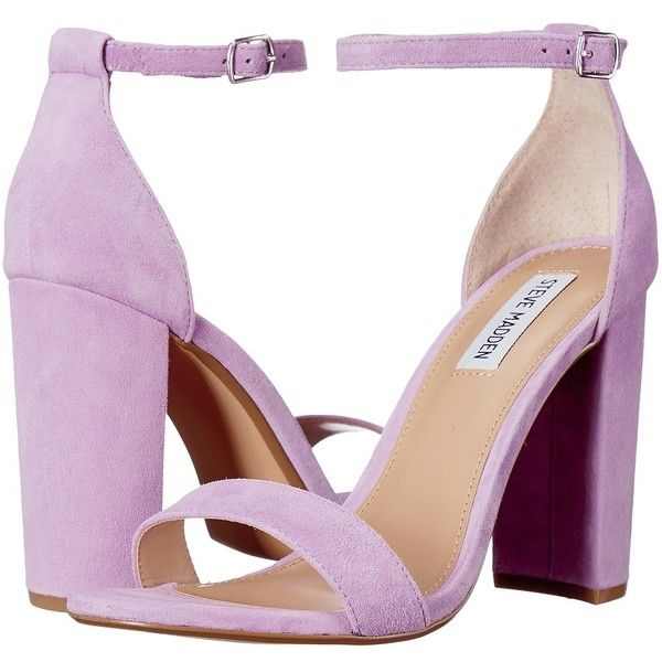 d8a861171b1 Steve Madden Carrson (Lavender Suede) High Heels ( 90) ❤ liked on Polyvore  featuring shoes
