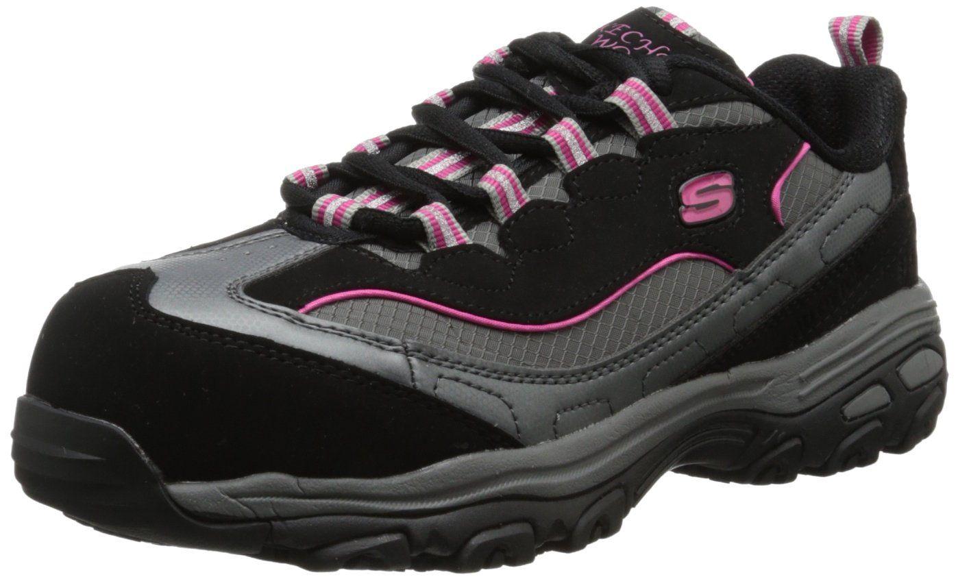 Skechers For Work Women S D Lites Sr Work Shoe Steel Toe Shoes