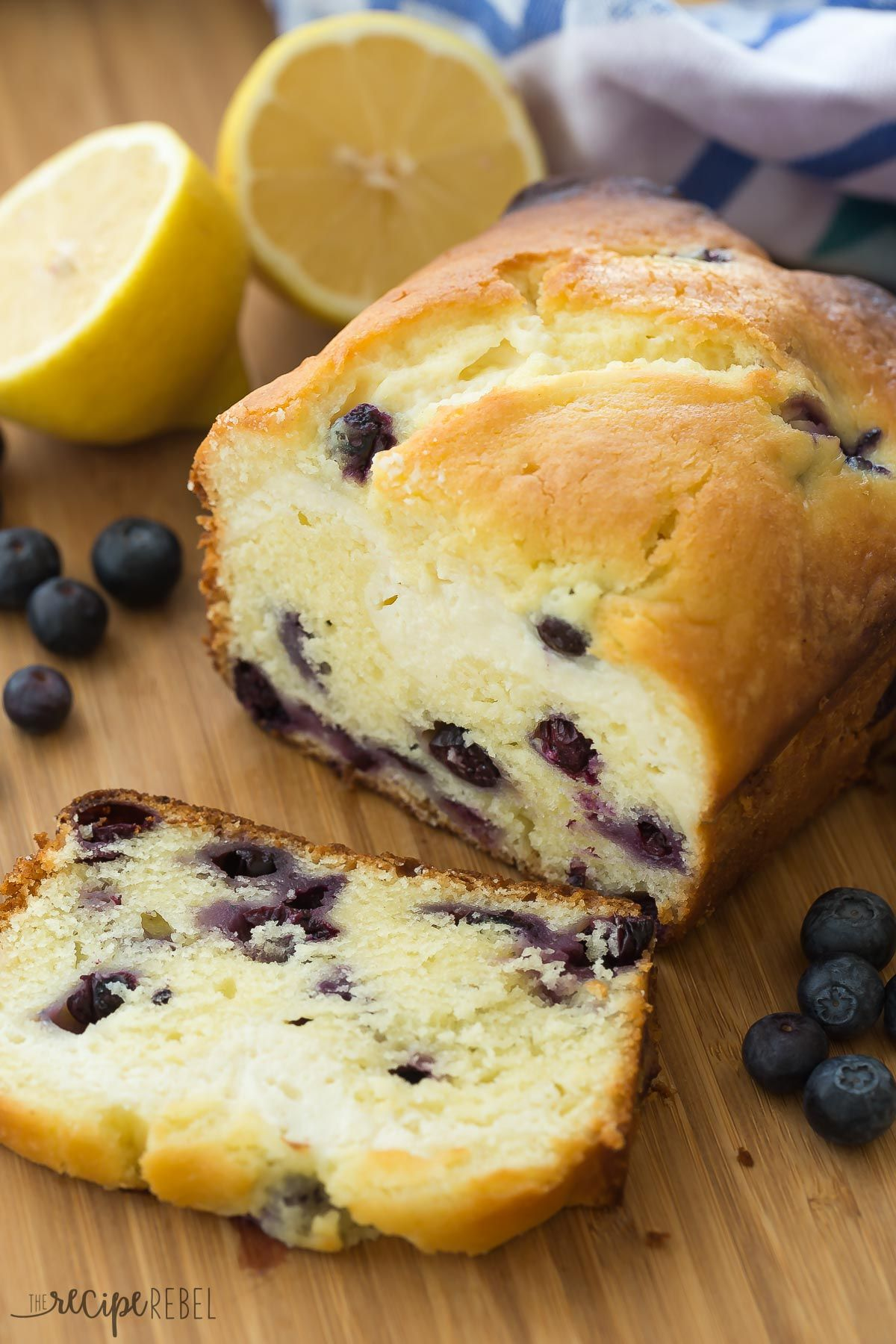 This Cream Cheese Filled Blueberry Lemon Bread Is Sweet Tangy And Filled With A Decadent Cheesecake Laye Lemon Recipes Lemon Blueberry Bread Blueberry Recipes