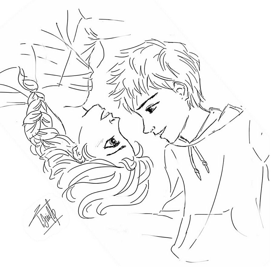 Related Image Elsa Coloring Pages Jack Frost And Elsa Jelsa