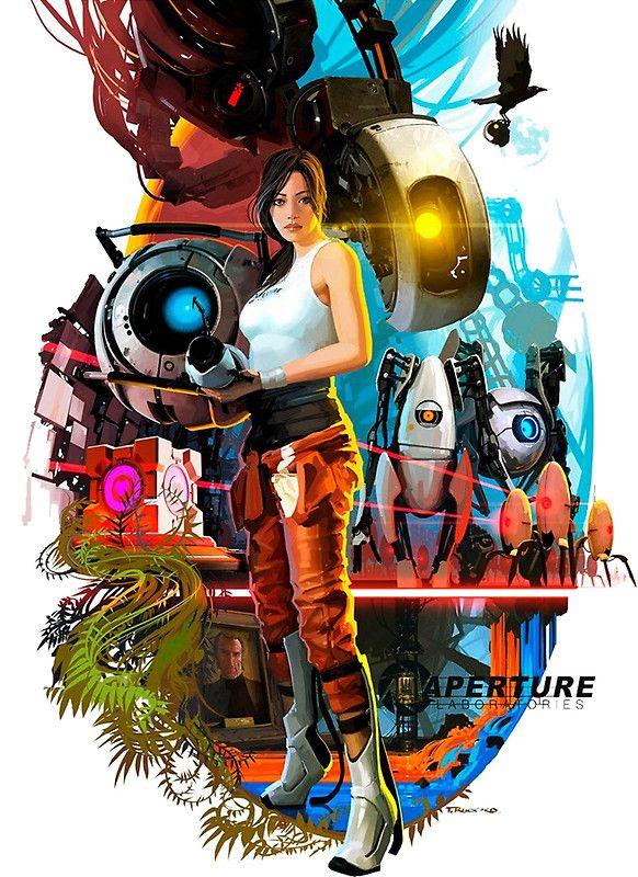 Portal 2 Poster By Imposibear Portal 2 Canvas Prints Portal Game