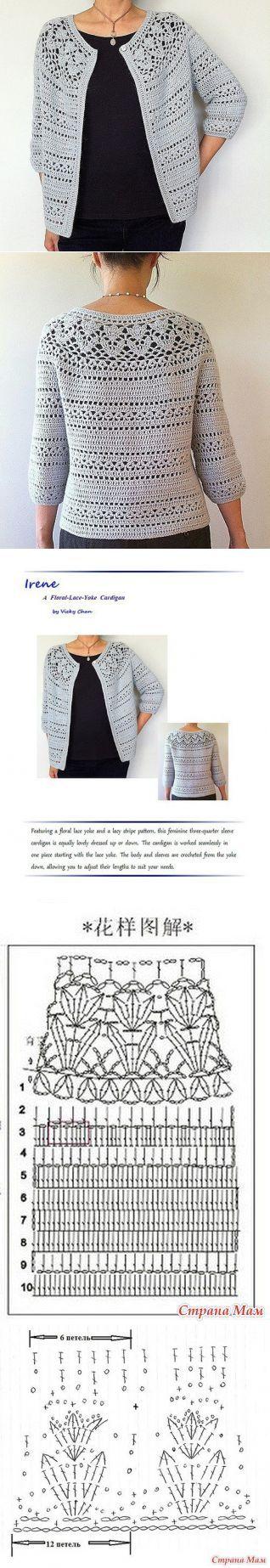 Pin de Martine Faucher en Crochet - Clothes / Vêtements | Pinterest ...