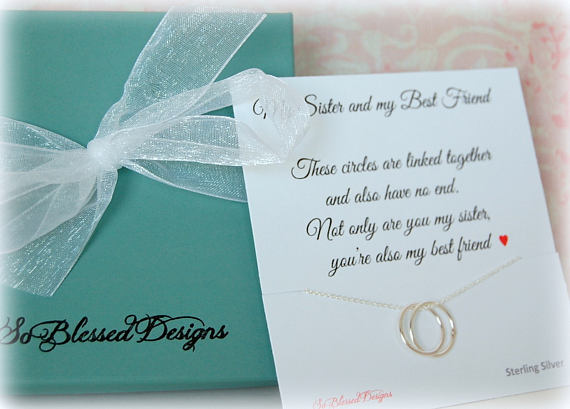 Gift For SISTER Sister Maid Of Honor Birthday POEM Sentimental Jewelry Co