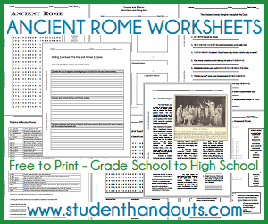 Ancient Rome Printable Worksheet All Are Free To Print Pdf File For Grade Scho History High School World Interactive Notebook Essay