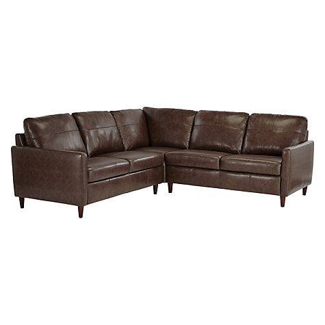 Buy John Lewis Dalston Leather Corner Sofa Online At Johnlewis Com
