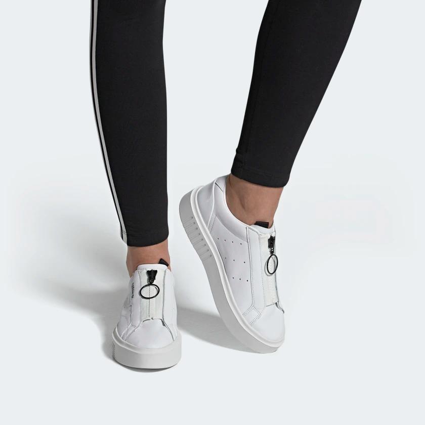 adidas Sleek Super Zip Shoes - White