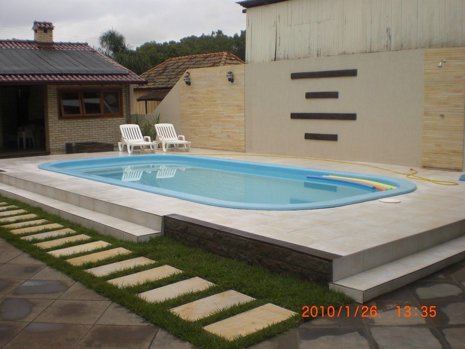 Projeto e reforma de area de lazer pequena com piscina for Decorar piscina elevada