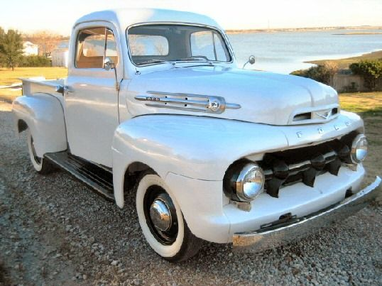 1952 Ford - I bought a 52 in 1963 to use as a work pickup. I called it my Buford pickup as it was a 52 body, 49 frame and 54 Buick motor, automatic transmission, and rear end. Boy could it run without the weight of the Buick car. Ray