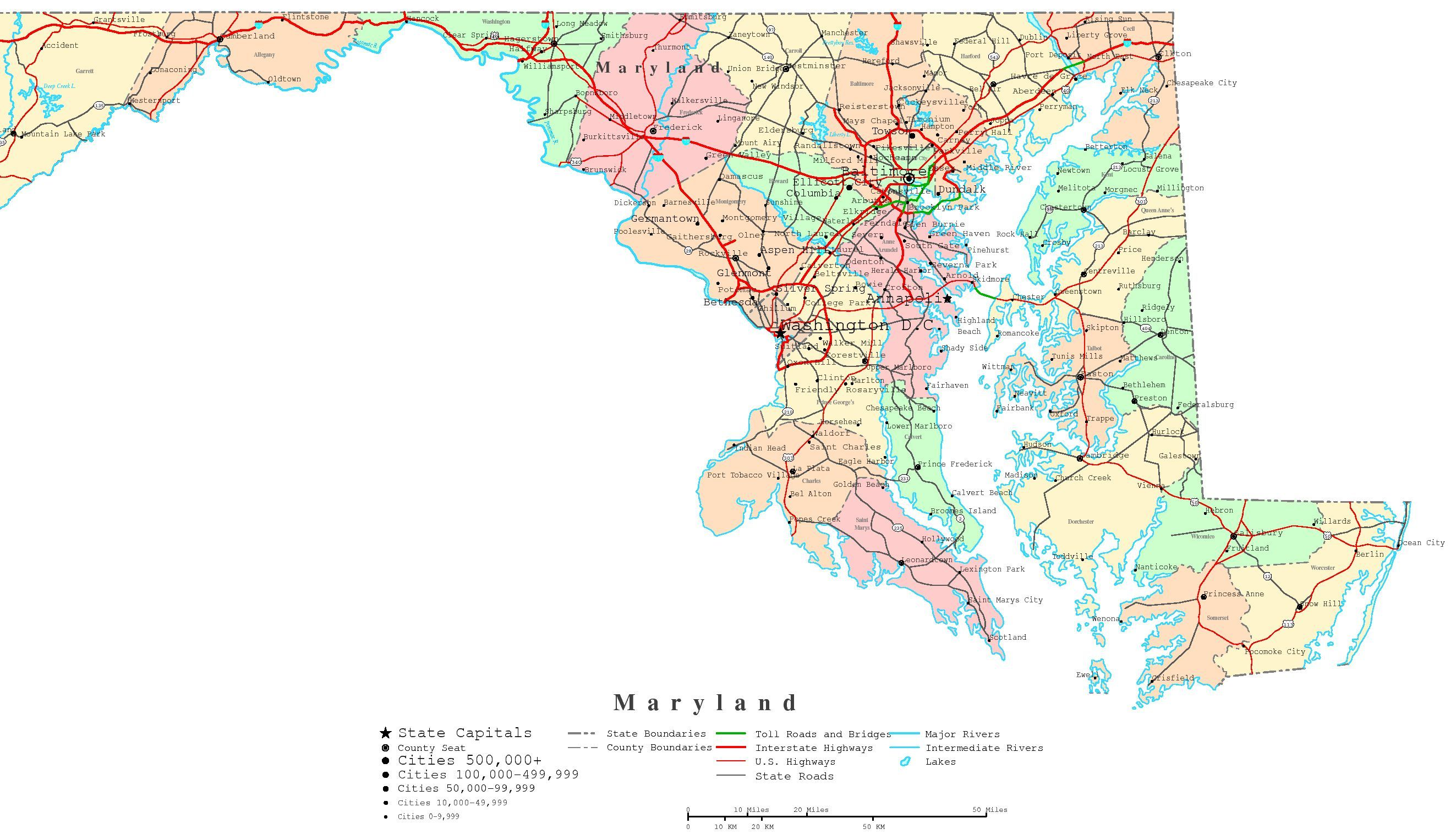 Printable map of maryland google search for the home pinterest