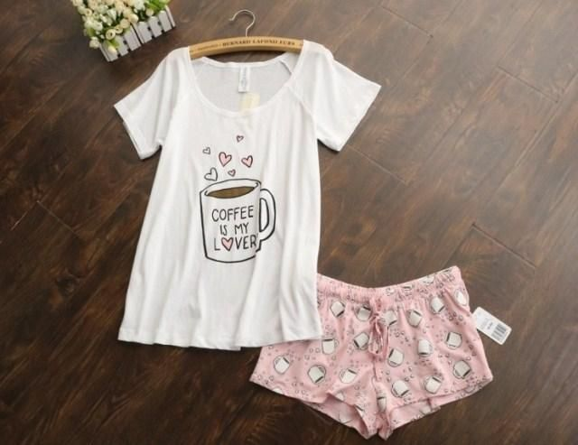 18fe5e302755 Gender  Women Item Type  Pajamas Collar  Round Neck Length  Shorts Material  Composition  cotton Pattern Type  Print Sleeve Length  Short