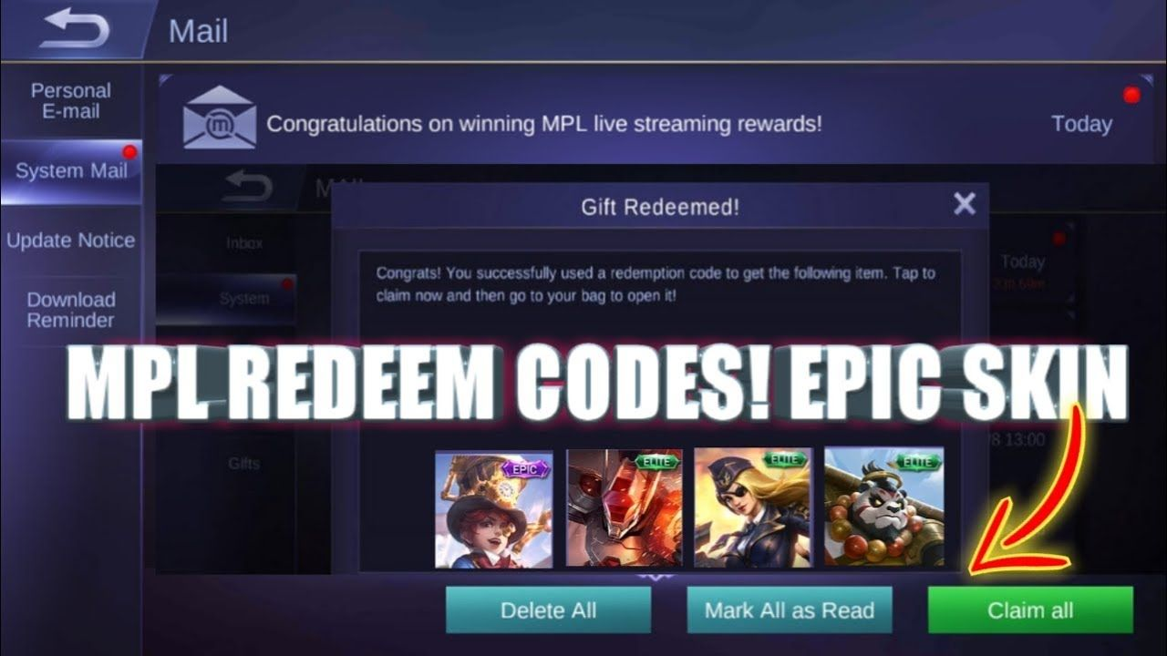 Mobile Legends Redeem Codes - September 2020
