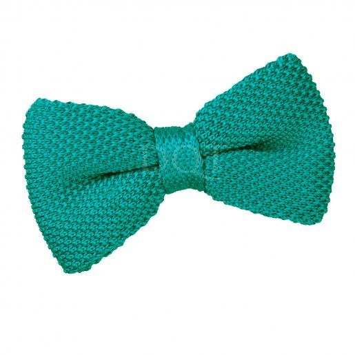 448eede1a3ea Teal Knit Knitted Pre-Tied Bow Tie in 2019 | Men's Bows | Teal bow ...
