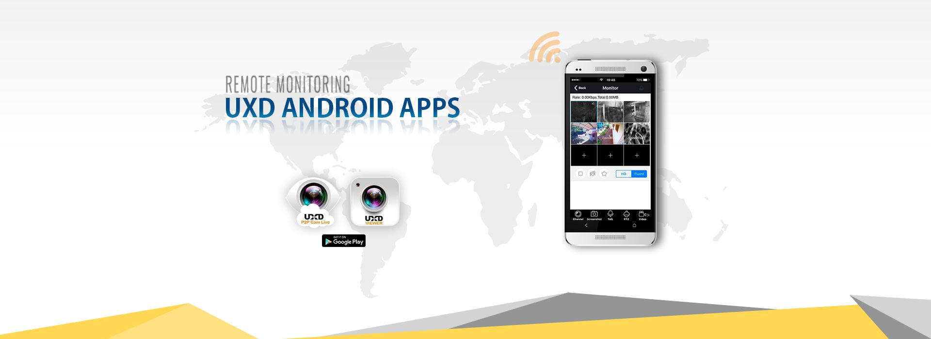 Remote Monitioring, Android App : UXD Viewer, UXD P2P Cam