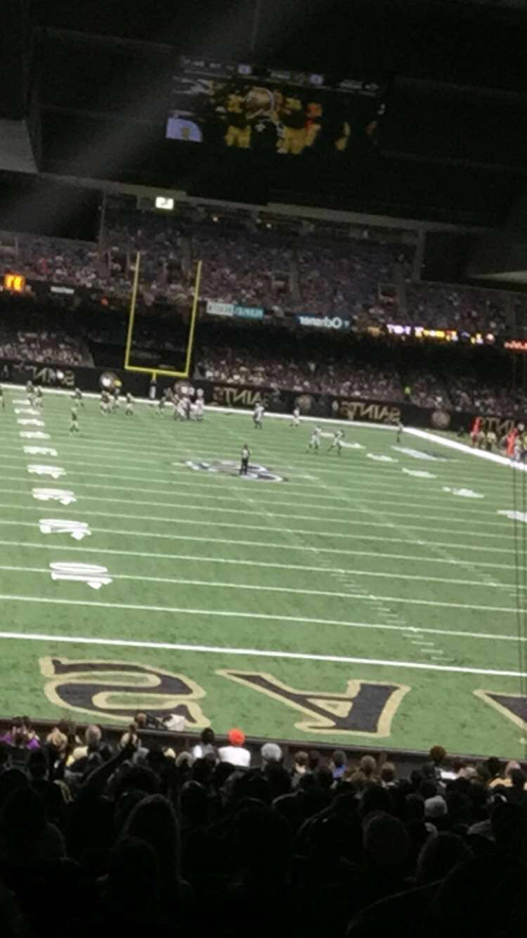 Our Saints game seats.. Always a blast at these games