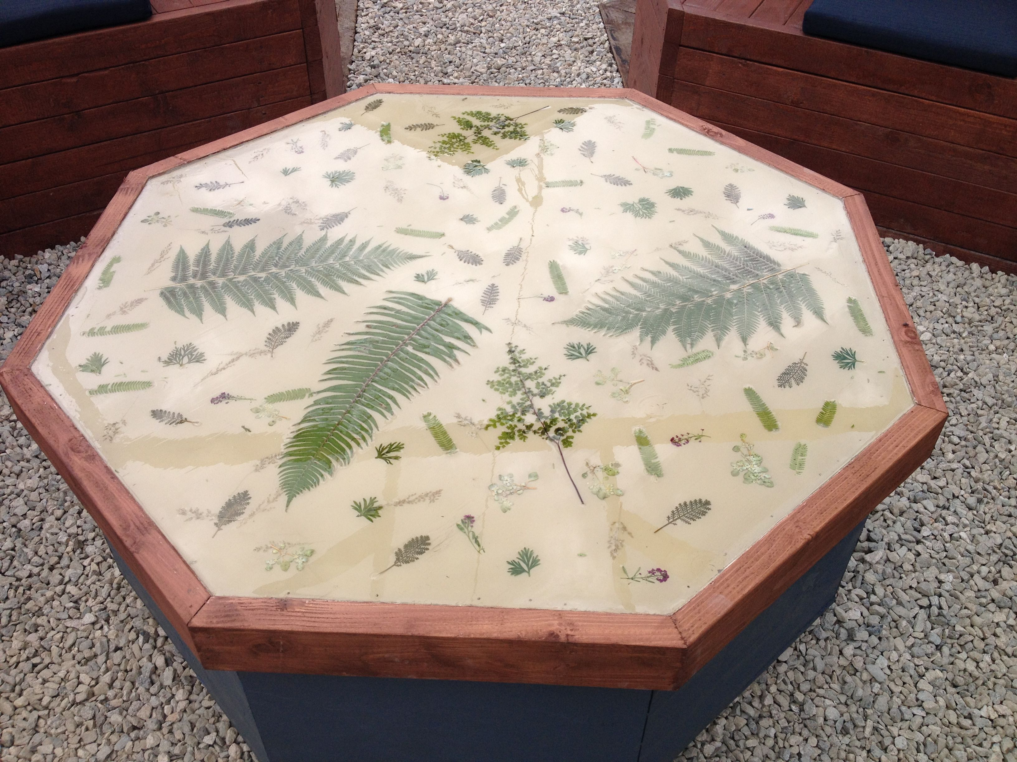 Epoxy Garden Table Build A Table Top With Raised Edge