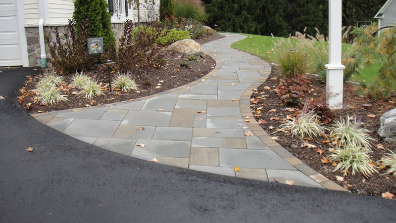 Best Paver Patterns For Curved Walkway Google Search Front Entry Landscaping Stone Walkway Paver Walkway