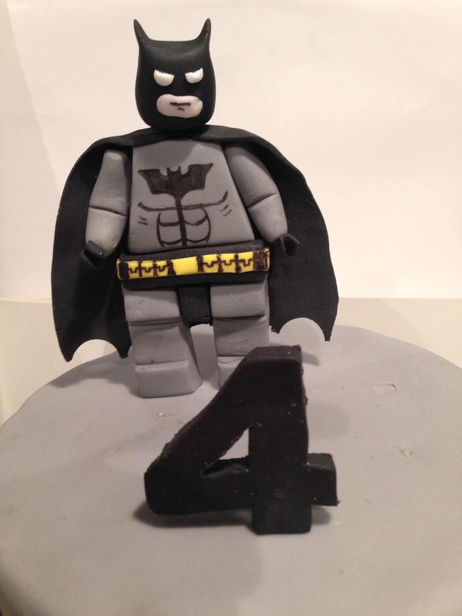 Lego batman cake topper. Used tutorial from zoes fancy cakes.
