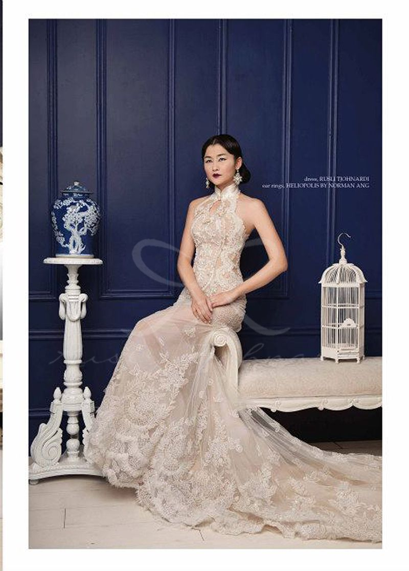 Dress Wedding Chinese Blue Chinnosoire