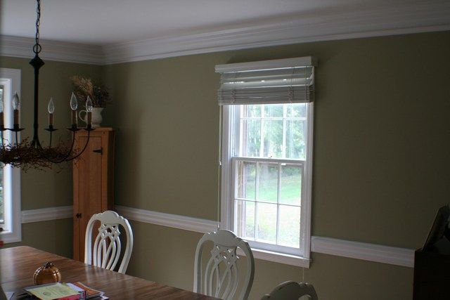 Dining Room Green With Chair Rail  Dining Room  Pinterest Brilliant Dining Room Colors With Chair Rail Inspiration Design