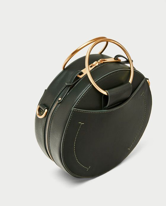 81e657a4d0f Image 3 of ROUND CROSSBODY BAG WITH METAL HANDLES from Zara | Bags ...