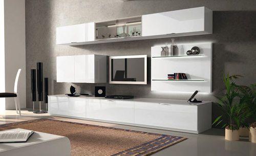 Mueble comedor TV moderno de madera lacada IDEA Maronese Tv wall
