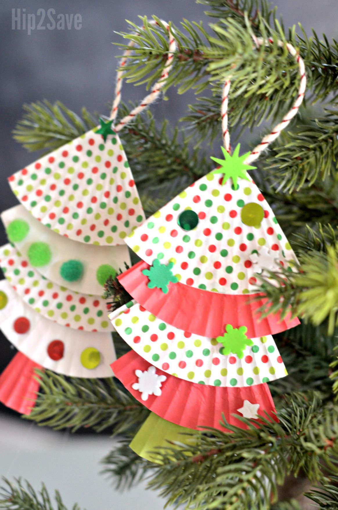 Here S How You Can Easily Turn Cupcake Liners Into The Cutest Christmas Tree Orna Christmas Angel Crafts Kids Christmas Ornaments Preschool Christmas Ornaments