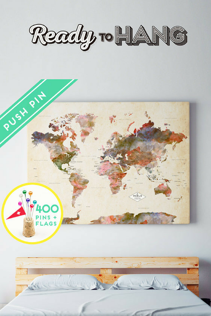 Custom world map canvas ready to hang canvas wrap choose size custom world map canvas ready to hang canvas wrap choose size world map gumiabroncs Images