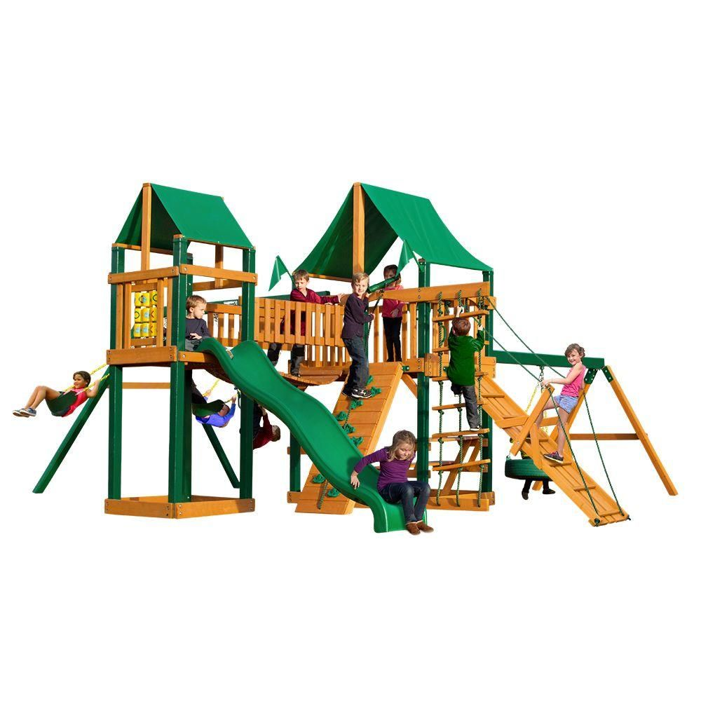 Gorilla Playsets Pioneer Peak with Timber Shield
