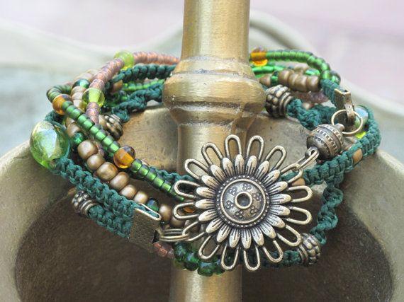 Macrame Wrap Bracelet by KarmaArtisanJewelry on Etsy, ₪175.00