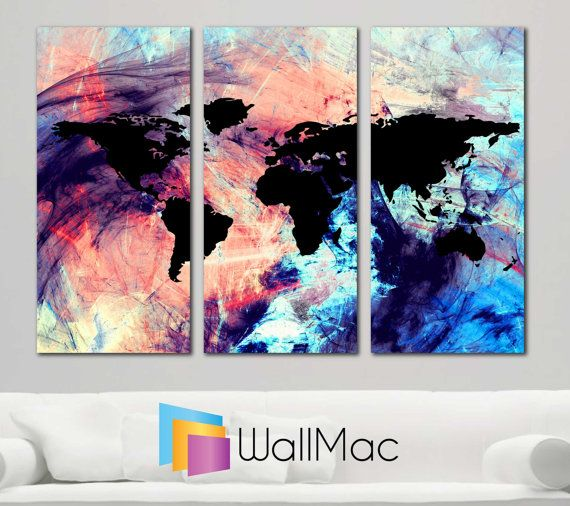 Bright hip colors world map wall canvas gallery wrap by wallmac bright hip colors world map wall canvas gallery wrap by wallmac gumiabroncs Choice Image