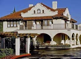 mission revival style architecture characteristics - google search