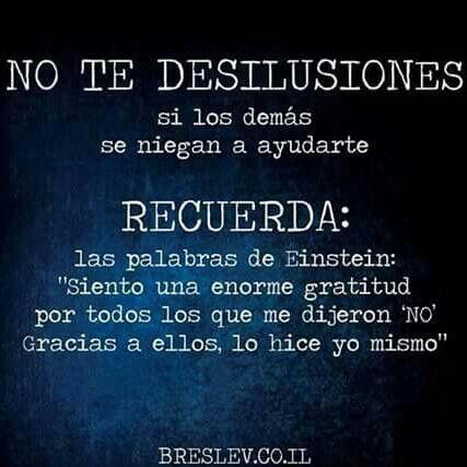 No te desiluciones