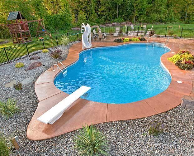 22x40 lagoon left Pettit Outdoor kitchen pool Pinterest Hot