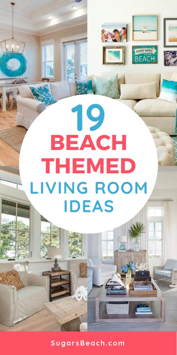 101 Beach Themed Living Room Ideas Beachfront Decor Beach Theme Living Room Teal Living Rooms Beach House Interior Design