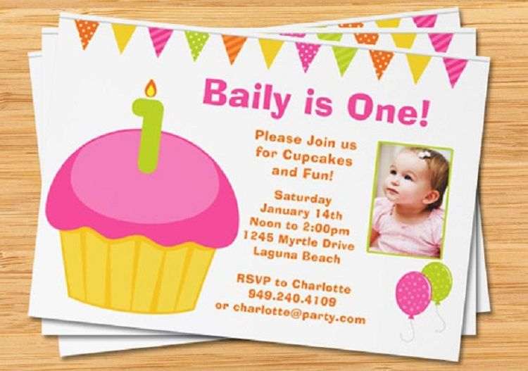 pink birthday invitation card in marathi 1st birthday