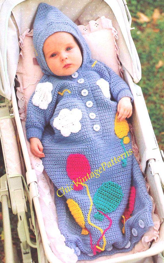 Babies Sleeping Bag ... Hooded Crochet Sleeping Bag ... Instant ...