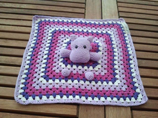 Danistrick Hippo Schnuffeltuch Amigurumi Baby Blanket Crochet