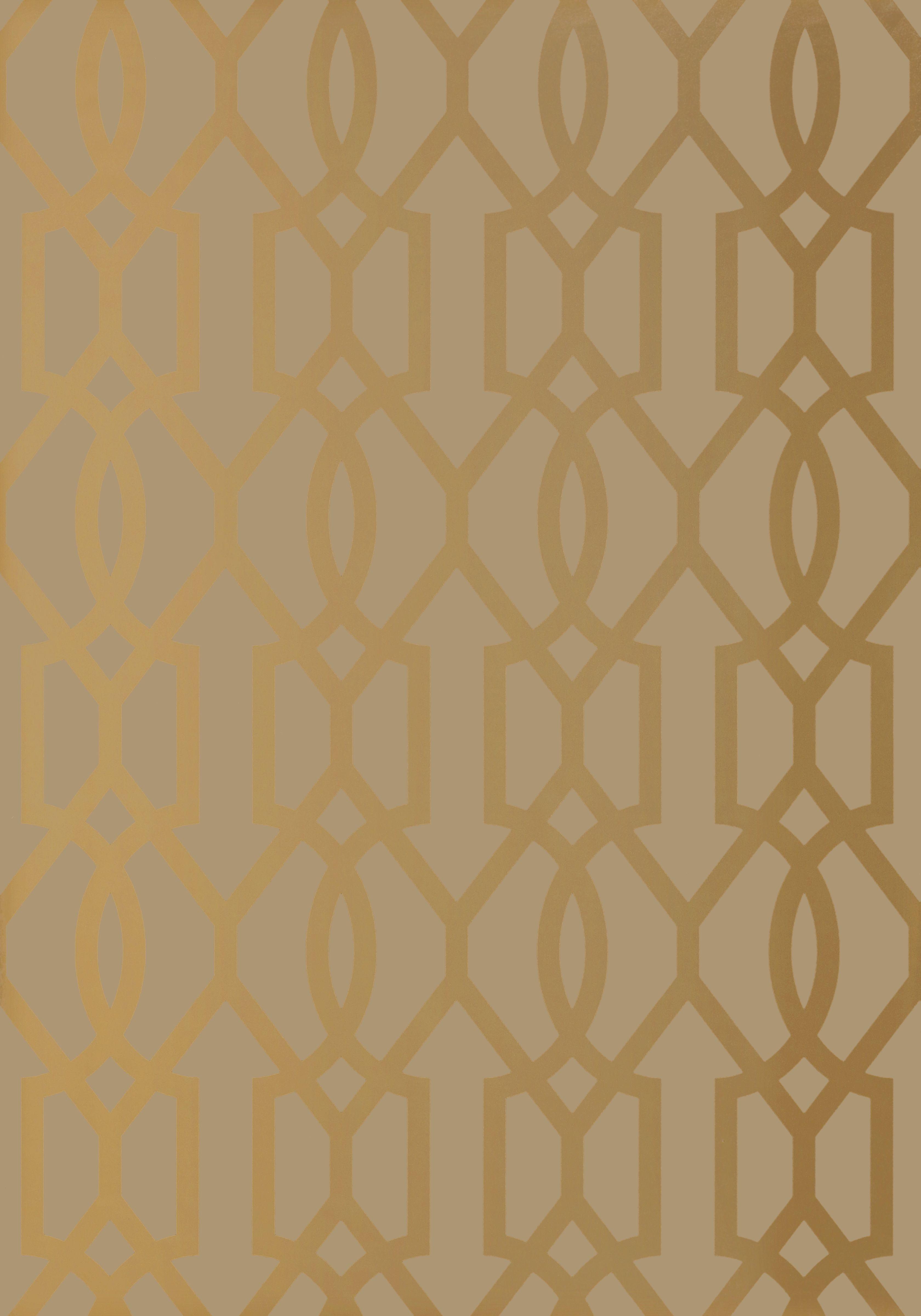 Downing Gate Thibaut wallpaper Metallic Gold on Bark