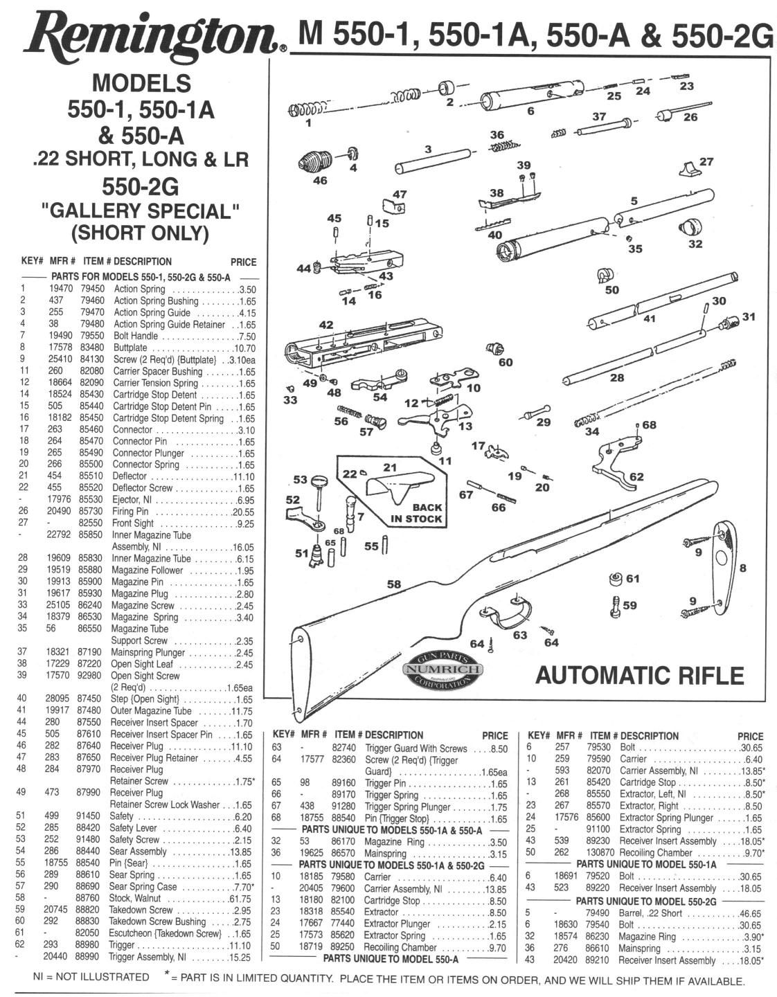 Marlin 550 Parts Diagram Everything About Wiring Glenfield Model 60 On Remington M 1 1a 550a 2g Diagrams Schematics Rh Pinterest Com 70 336