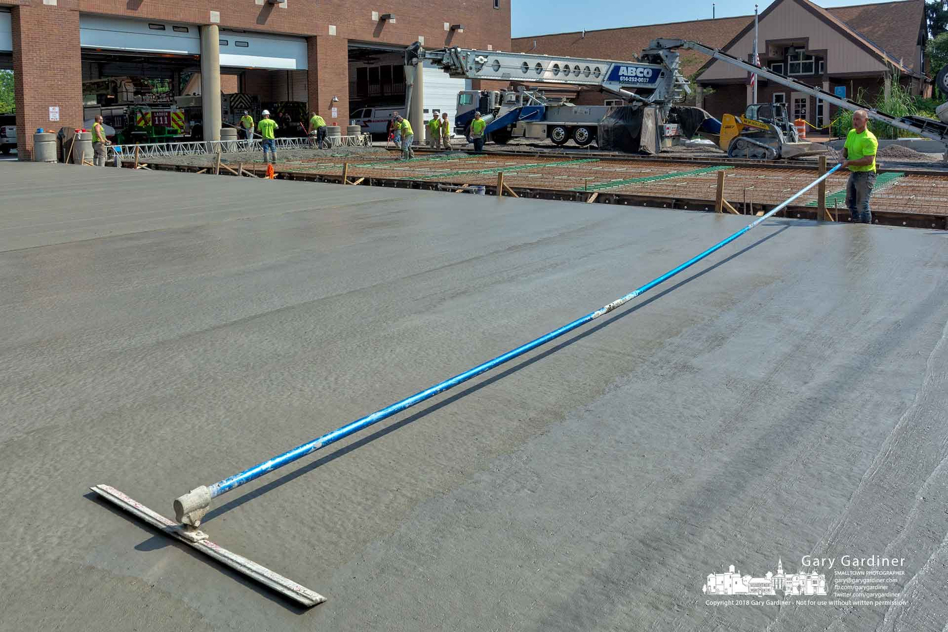 Fire station new ramp concrete concrete workers pump