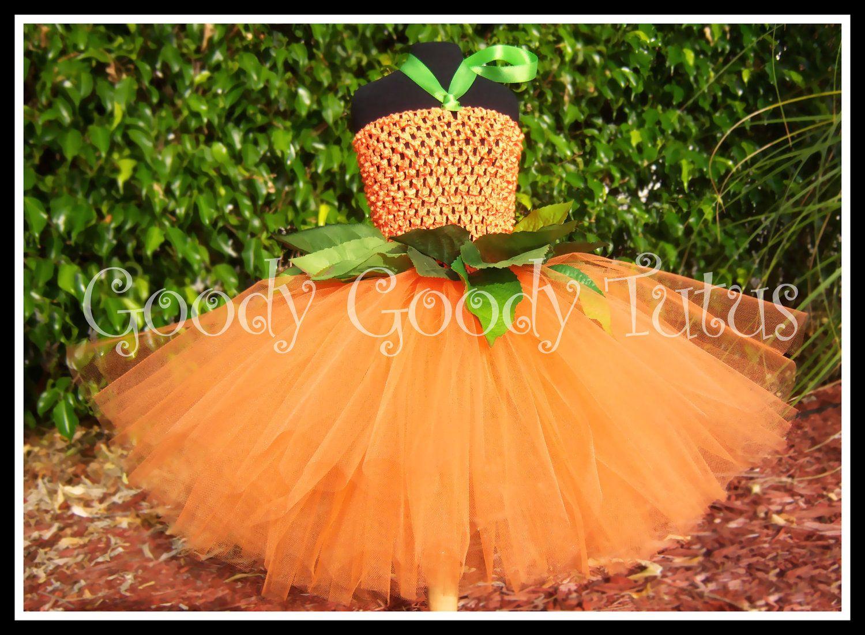 453cd0f9e LITTLE MISS PUMPKIN Crocheted Tutu Dress with Greenery and Matching ...