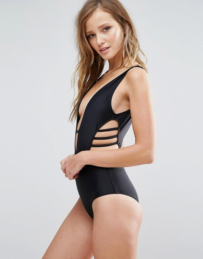 Rare Plunge Side Cut Out Swimsuit Products Pinterest Swimsuits