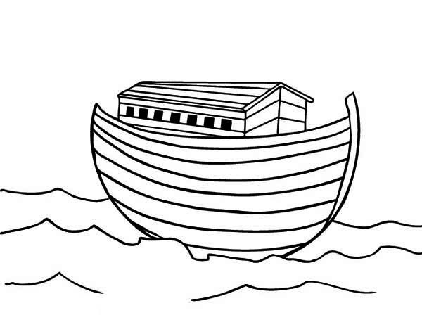 Noahs Ark After The Great Flood Subside Coloring Page