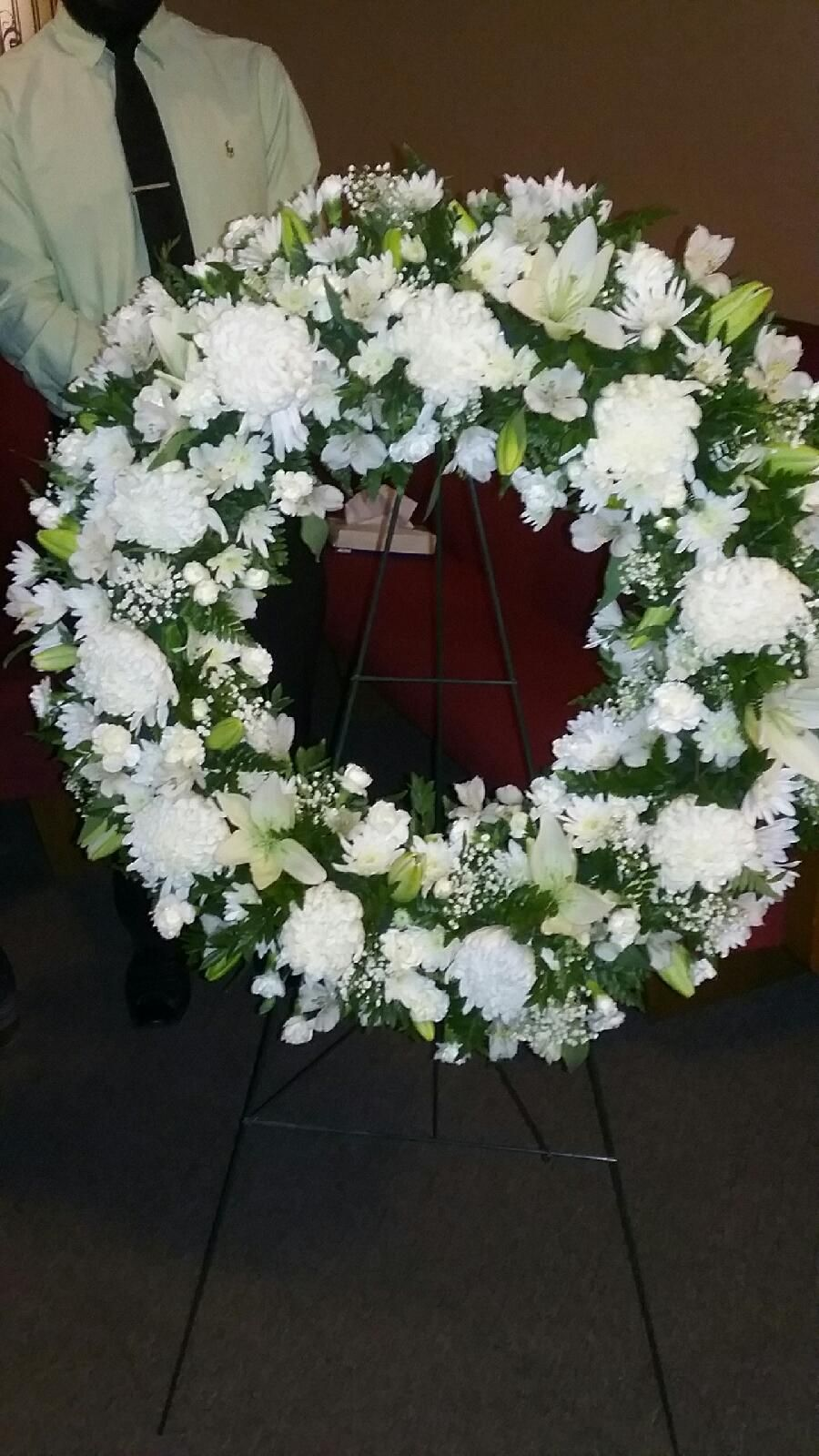 Blooming Canyon all white sympathy arrangement in Phoenix