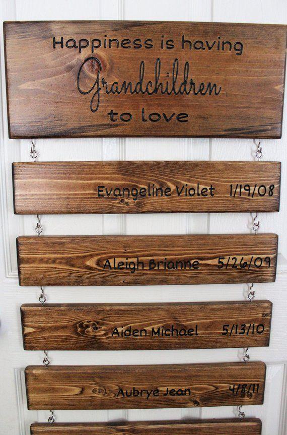 Grandchildren Sign, Grandparents Day Sign, Mother's Day Gift