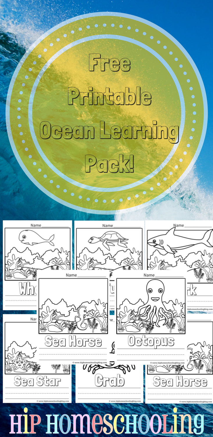 Ocean Coloring Pages Free Printable and Link Up | Ocean themes ...