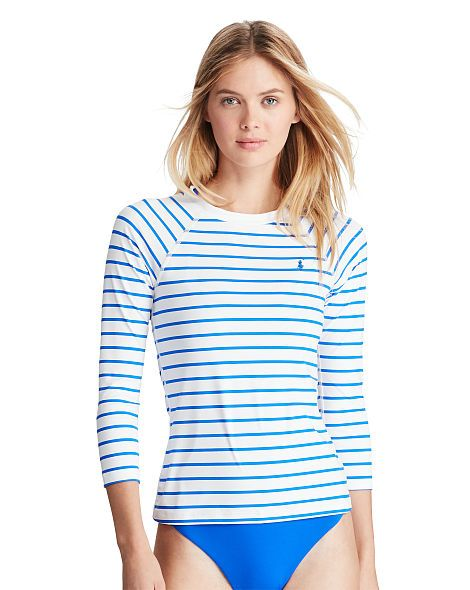 6b59630f2b Striped Rash Guard - Polo Ralph Lauren Two-Pieces - RalphLauren.com ...