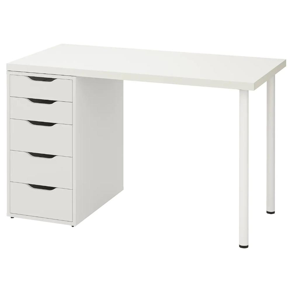 Linnmon Alex Table White 47 1 4x23 5 8 In 2020 Ikea Drawer Unit Wall Shelf Unit