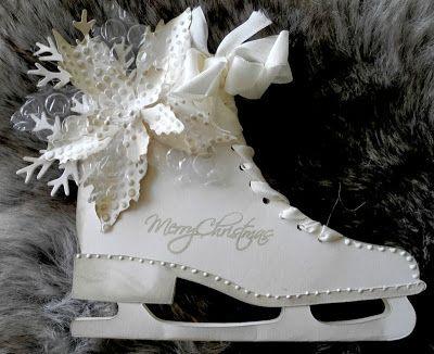 Vinterkort/ Merry Christmas ICE SKATE